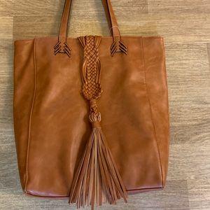 Brown/Tan Tote Handbag